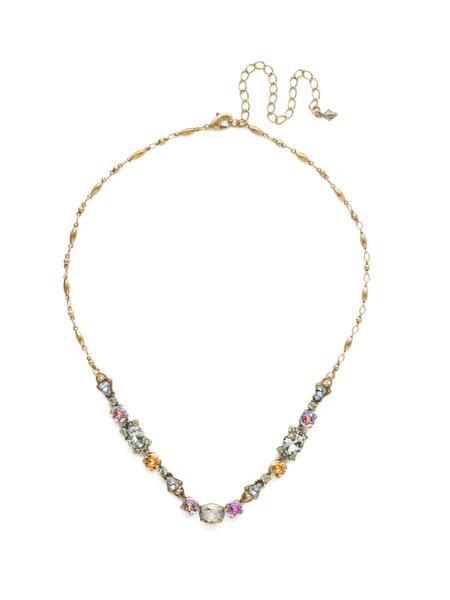Multi Pastel Crystal Necklace