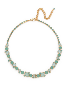 Glittering Multi-Cut Crystal Necklace - Pacific Opal
