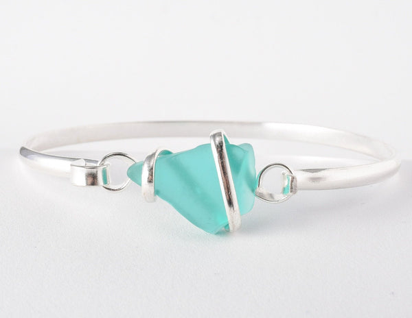Alpaca Recycled Glass Freeform Cuff - Mint