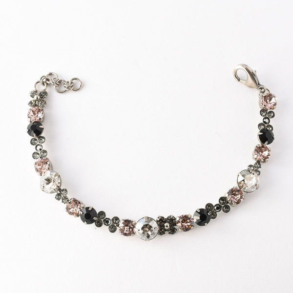 Well-Rounded Bracelet Black Tie - Crystal Noir