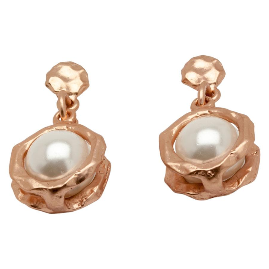 Rose Gold Pearls Earrings