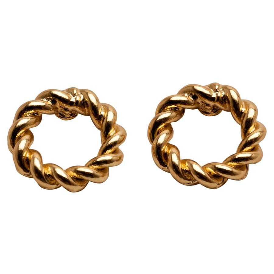 Gold Twisted Rope Earrings