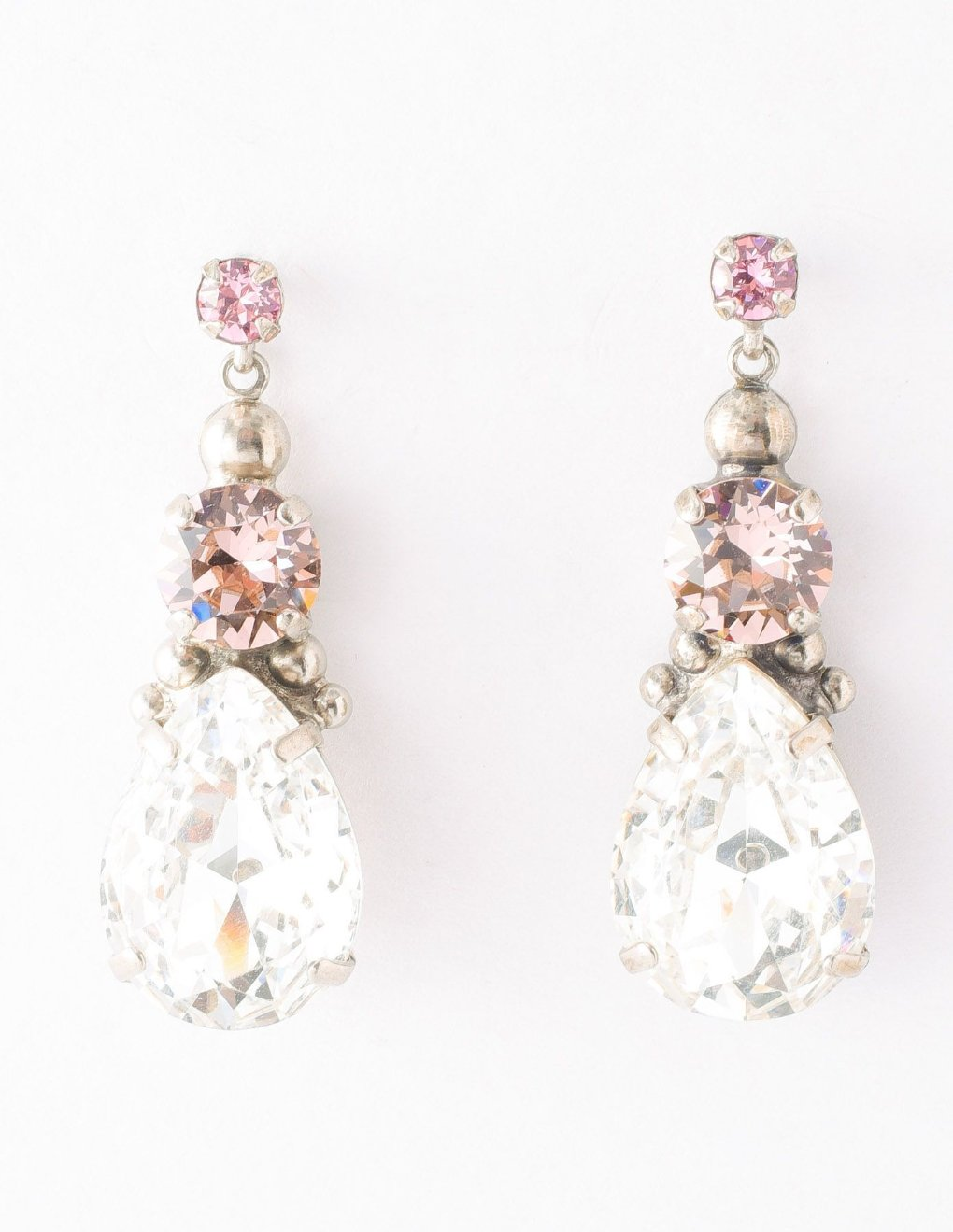 Transcendent Teardrop Earring - Crystal Rose