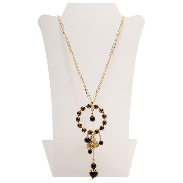 Gold long bohemian necklace