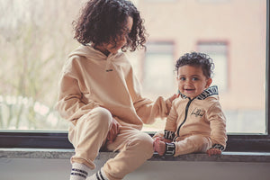 best yeezy style all in one baby one piece tracksuit in beige
