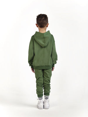 designer luxury tracksuit for kids and children in khaki green
