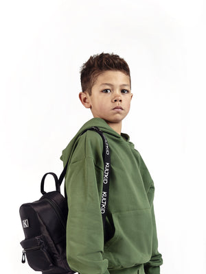 logo strap backpack for boys and girls