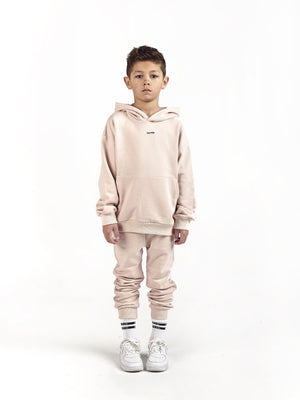 kids children luxury designer premium branded streetwear Oversized Hoodie & Tapered Skinny Joggers in Himalaya - KULTKID