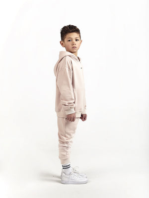 dusty light pink tracksuit for little boys and girls