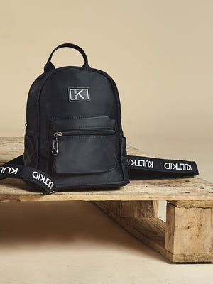 Logo Strap Backpack in Onyx-KULTKID