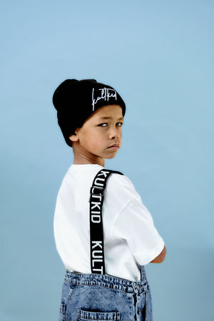 kids and juniors signature black beanie  hat