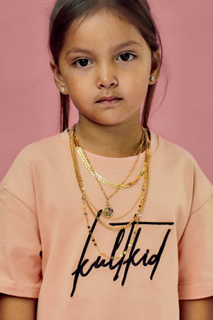 beautiful and pretty multi layer gold chain necklace for little girls