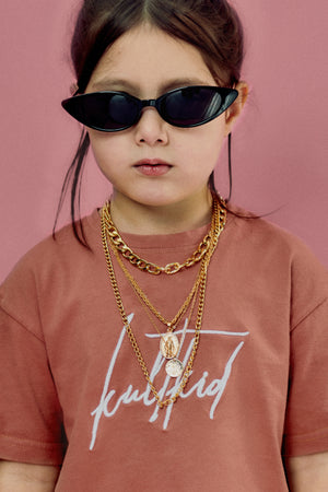 Multi layered gold chain necklace for girls