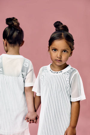 Monochrome tshirt dress for little girls