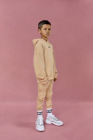 Oversized beige yeezy tracksuit co-ord for boys and girls