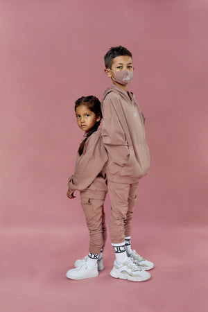 dusty pink tracksuit for little kids and children