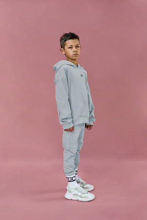fashionable oversized hooded tracksuit for kids