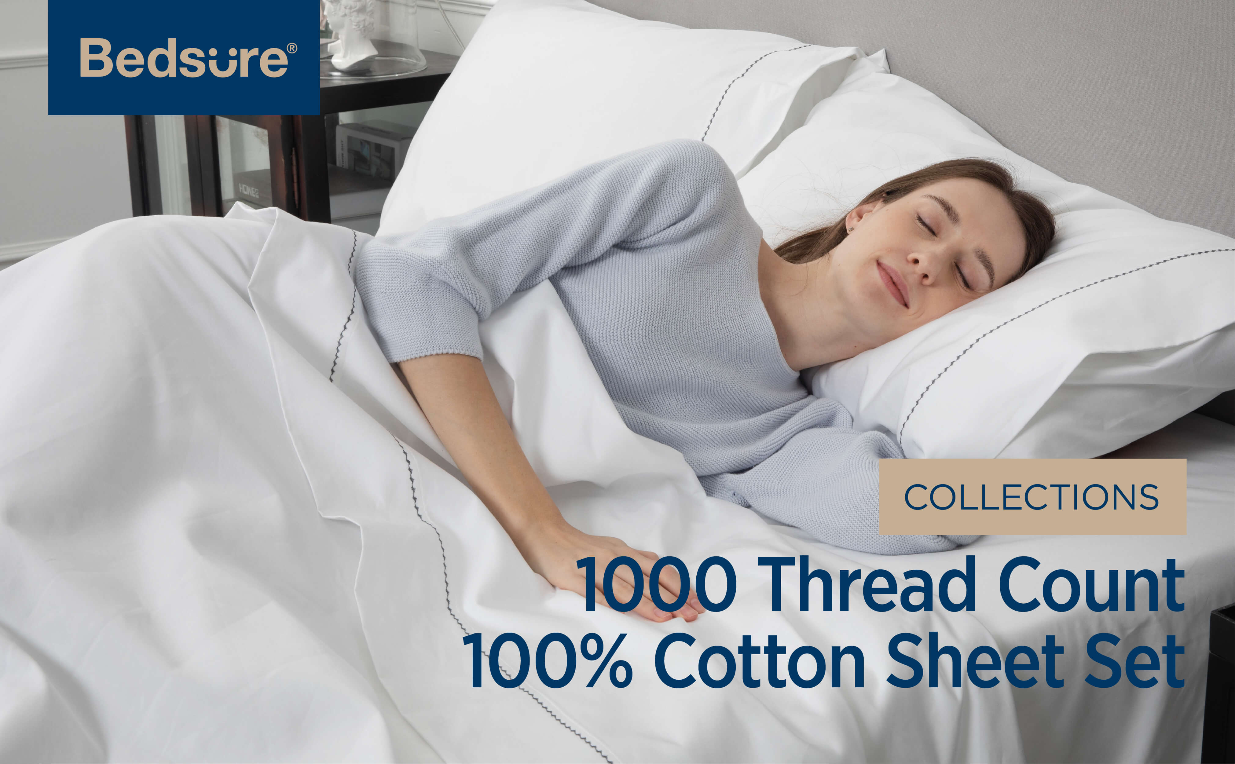 1000 Thread Count Bedsure Bed Sheets 1