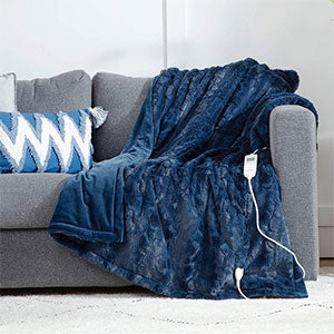 Low Voltage Super Soft Faux Fur Tie Dye Fleece Throw Blanket