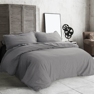 45% Cotton 55% Linen Duvet Cover Beige-bedsuredesigns