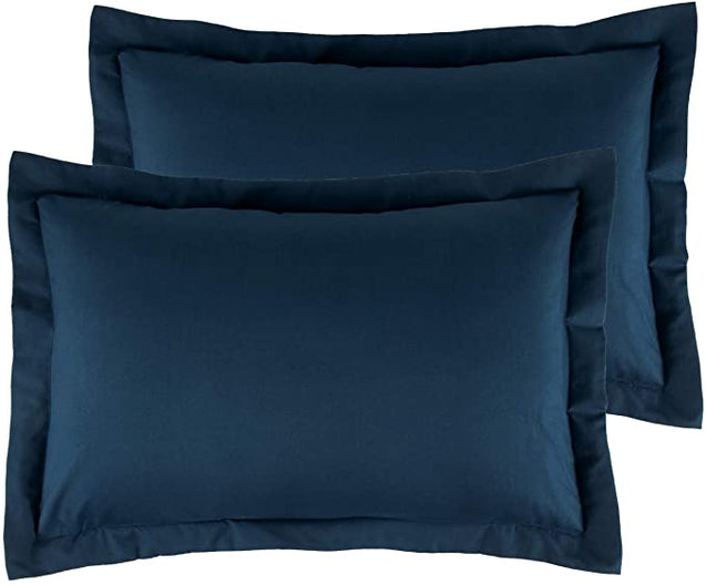 Bedsure Brushed Microfiber Pillow Shams Set of 2 - Super Soft and Cozy-blue