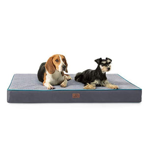 dogs on the Bedsure Orthopedic Memory Foam Dog Bed for Large Dogs