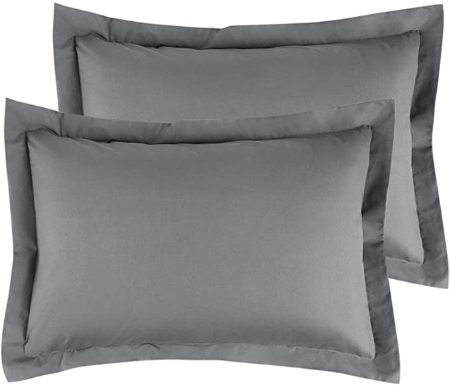 Bedsure Brushed Microfiber Pillow Shams Set of 2 - Super Soft and Cozy-grey