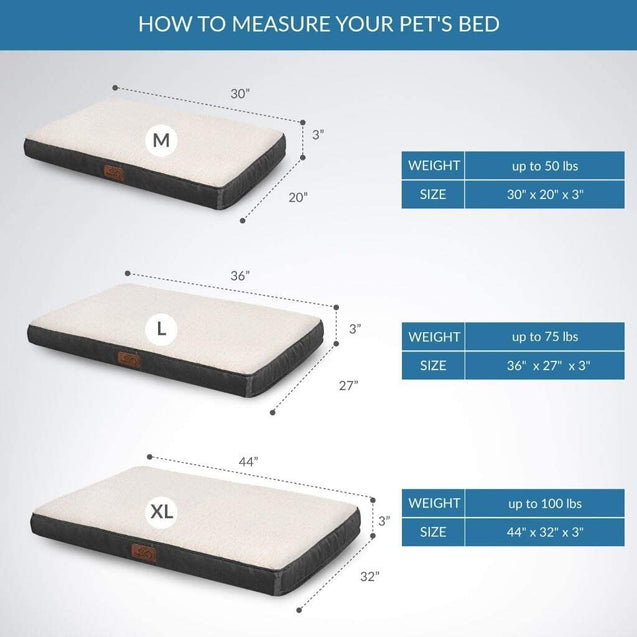 how to measure your pet's bed