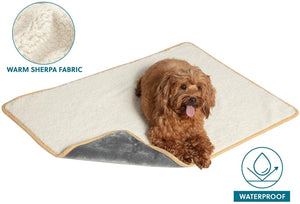 Bedsure Waterproof Dog Blanket - Sherpa Fleece Pet Blanket