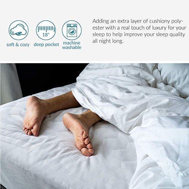 Bedsure Ultra Soft Quilted Mattress Pad