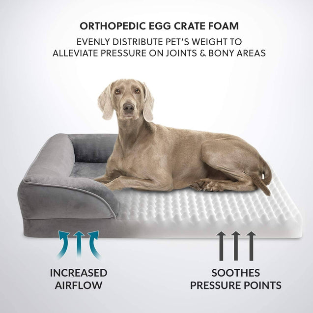 Bedsure Orthopedic Dog Bed, Foam Sofa with Removable Washable Cover