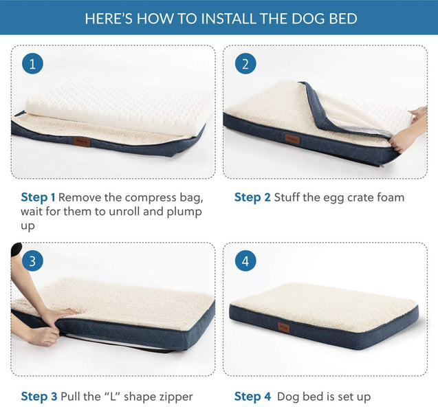 how to install the dog bed