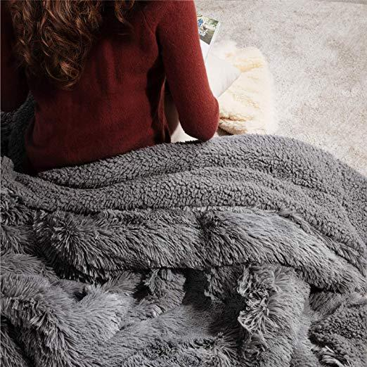 Plush Faux Fur Fleece Blanket