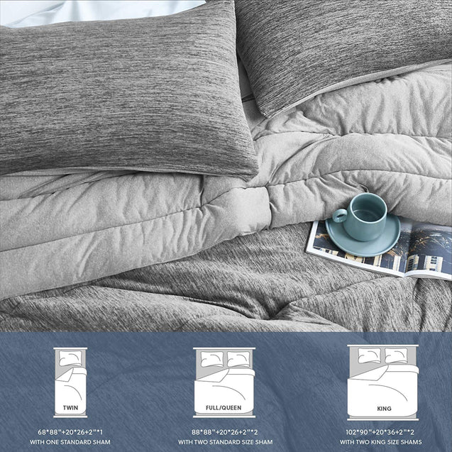 sizes of the Bedsure Comforter Set, Reversible Warm&Cooling Comforter
