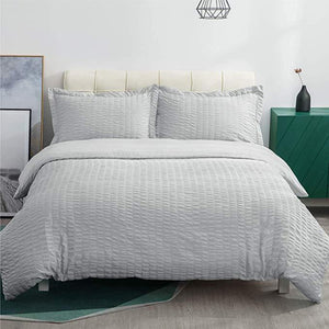 Bedsure Duvet Cover Set - Seersucker Stripe