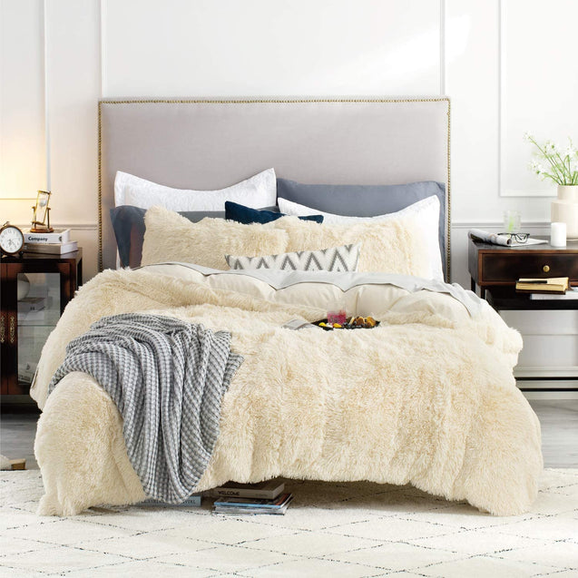 Bedsure Fluffy Duvet Cover Set - Beiges
