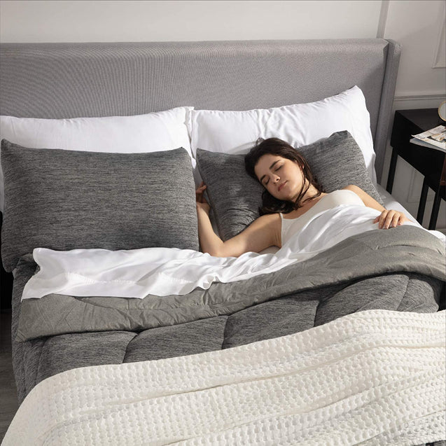 get cozy with Bedsure Comforter Set, Reversible Warm&Cooling Comforter