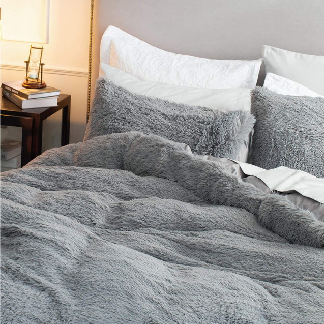 Bedsure Fluffy Duvet Cover Set -Grey