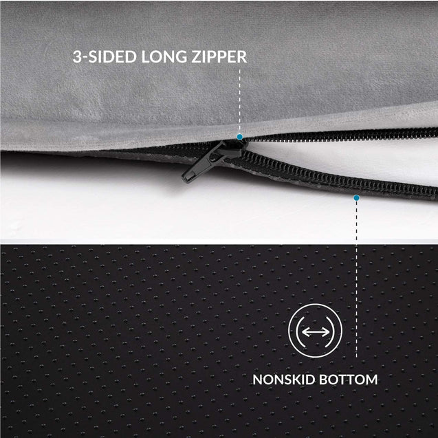 3-sided long zipper