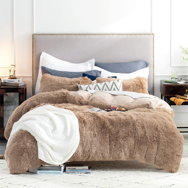 Bedsure Fluffy Duvet Cover Set - Khaki
