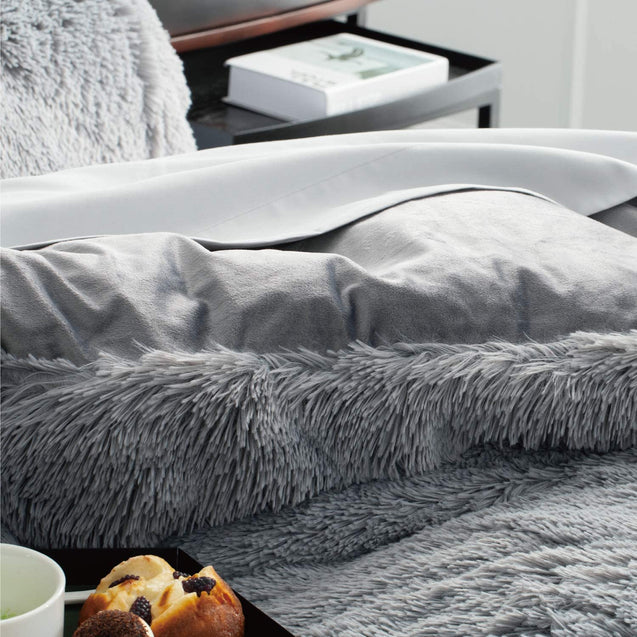 Bedsure Fluffy Duvet Cover Set - Grey