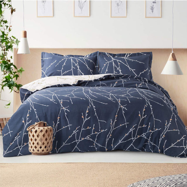 Tree Branch Printed Duvet Cover Set