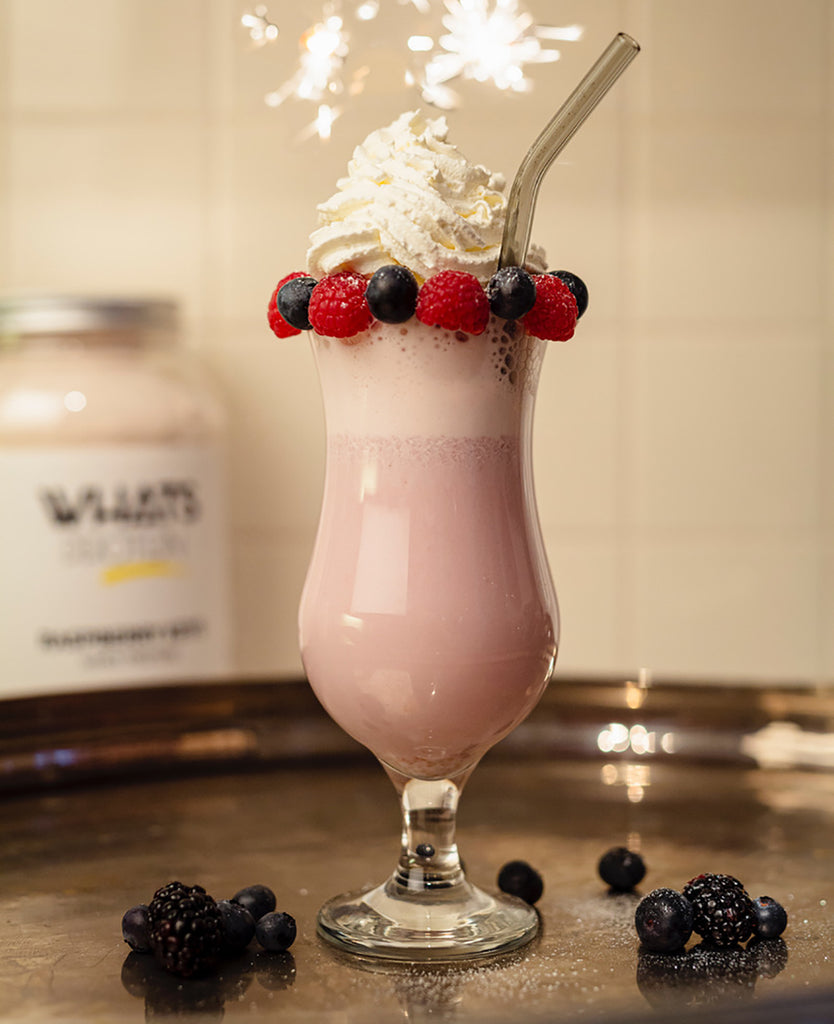 Super leckerer Silvester Raspberry Keys Shake