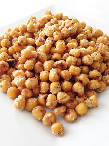 Top 10 Healthy Summer Snacks-Garlic Roasted Chickpeas