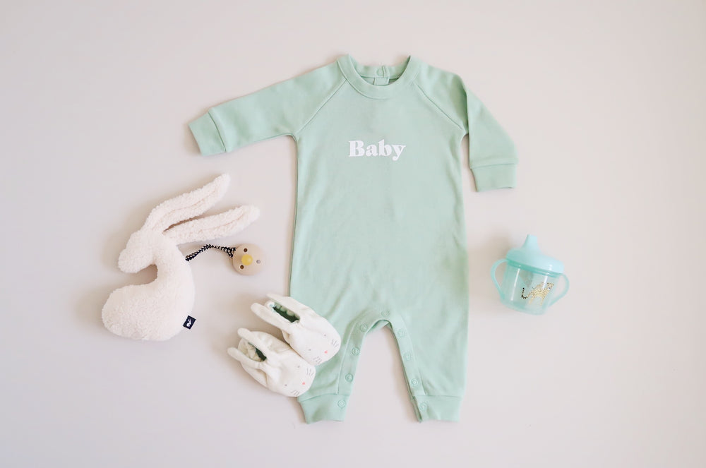 Playsuit | baby soft mint