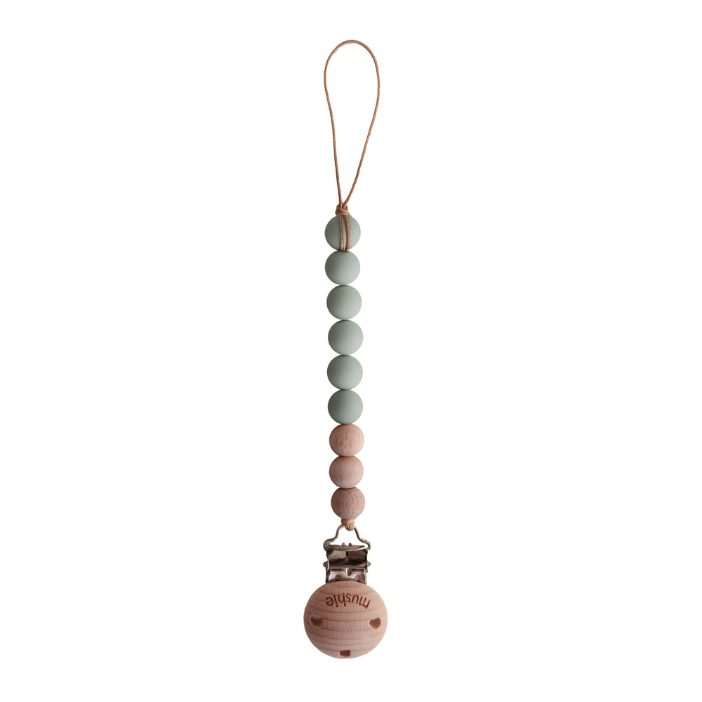 Fopspeenketting | sage/wood