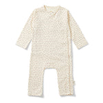 Playsuit newborn | tiny clover beige