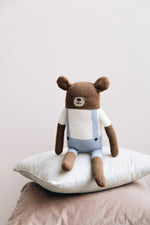 Knuffel | large teddy knit blue