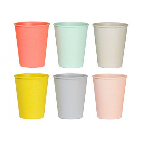 Bekers | pastel set van 6