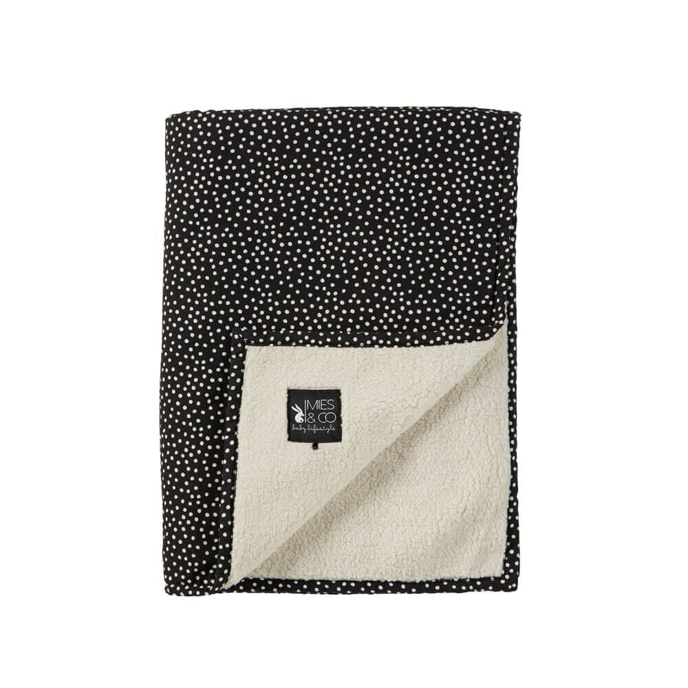 Dekentje | cosy dots black (small)